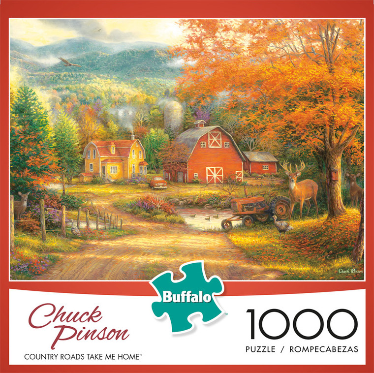 Chuck Pinson Escapes Country Roads Take Me Home 1000 Piece Jigsaw Puzzle Front