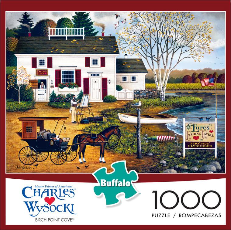 Charles Wysocki Birch Point Cove 1000 Piece Jigsaw Puzzle Front