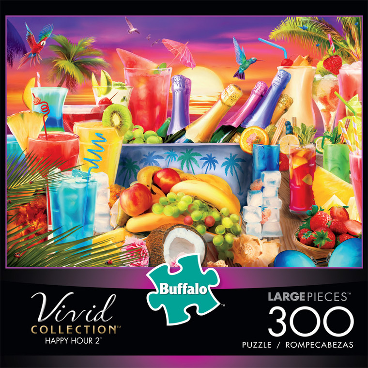 Vivid Happy Hour 2 300 Large Piece Jigsaw Puzzle Front