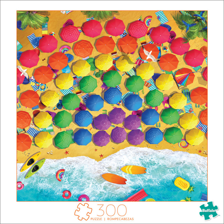 Art of Play Rainbow Umbrellas 300 Large Piece Jigsaw Puzzle Front