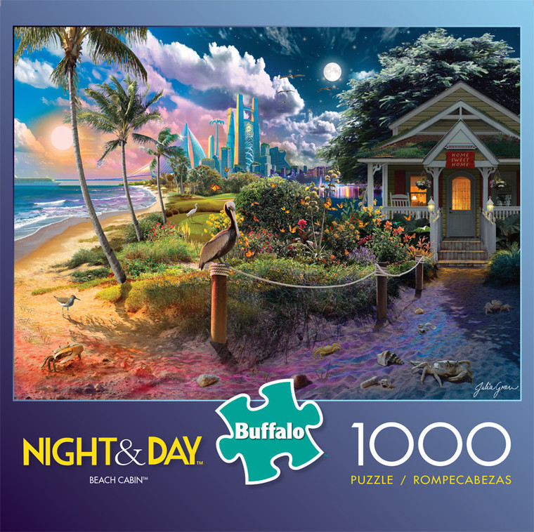 Night & Day Beach Cabin 1000 Piece Jigsaw Puzzle Front