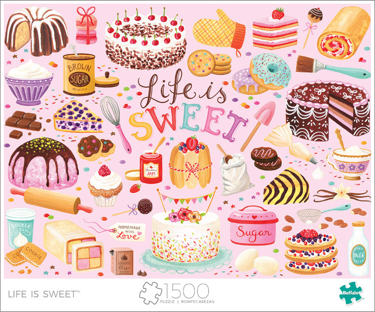 Art of Play Life Is Sweet 1500 Piece Jigsaw Puzzle Front