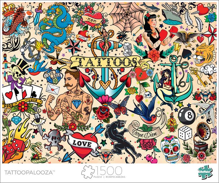Art of Play Tattoopalooza 1500 Piece Jigsaw Puzzle Front