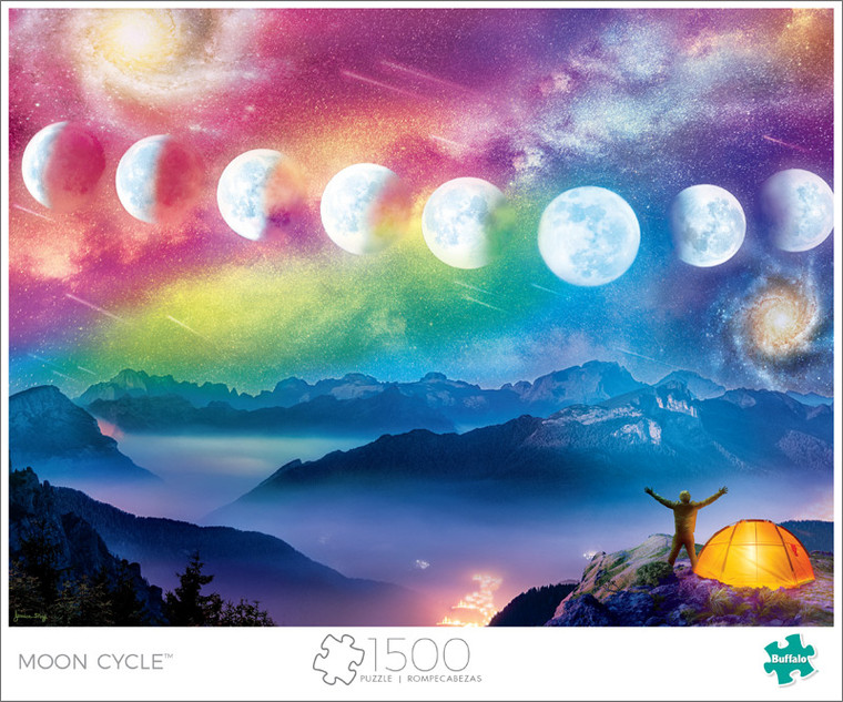 Art of Play Moon Cycle 1500 Piece Jigsaw Puzzle Front