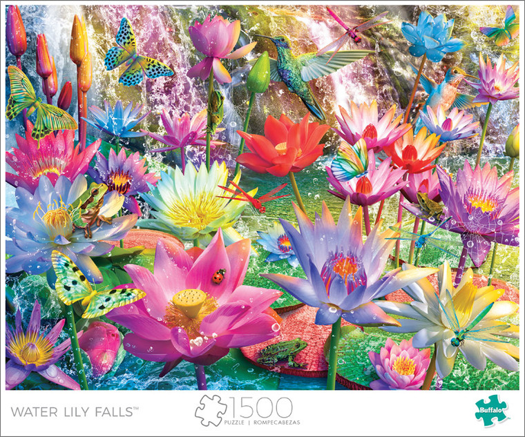 Art of Play Water Lily Falls 1500 Piece Jigsaw Puzzle Front