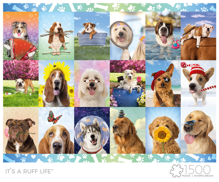 Art of Play It's a Ruff Life 1500 Piece Jigsaw Puzzle Front