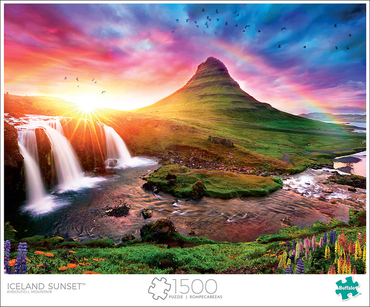 Art of Play Iceland Sunset 1500 Piece Jigsaw Puzzle Front