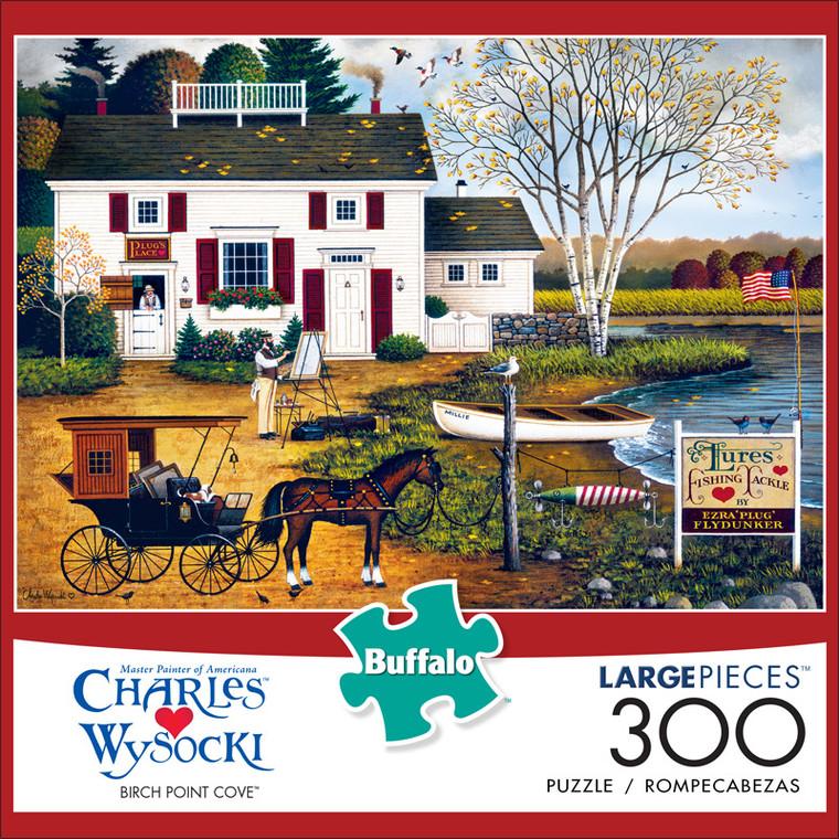 Charles Wysocki Birch Point Cove 300 Large Piece Jigsaw Puzzle Front