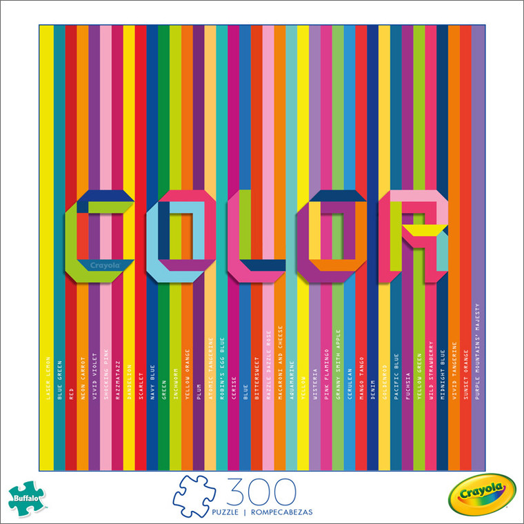 Art of Play Colorful Crayola 300 Large Piece Jigsaw Puzzle Front