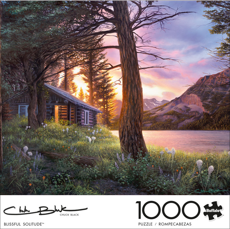 Chuck Black Blissful Solitude 1000 Piece Jigsaw Puzzle Front