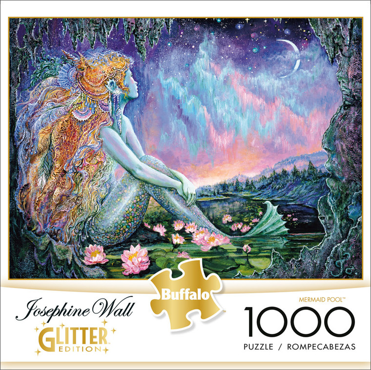 Josephine Wall Mermaid Pool Glitter Edition 1000 Piece Jigsaw Puzzle Front