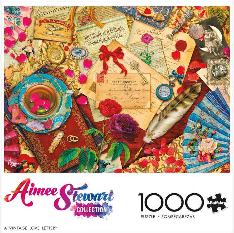 Aimee Stewart A Vintage Love Letter 1000 Piece Jigsaw Puzzle Front