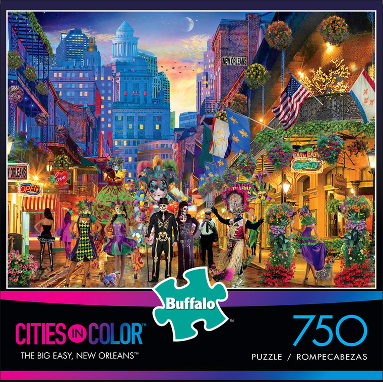 Cities in Color The Big Easy, New Orleans 750 Piece Jigsaw Puzzle Front