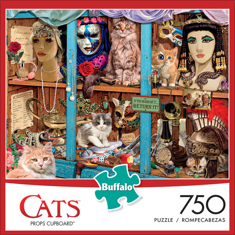 Cats Props Cupboard 750 Piece Jigsaw Puzzle Front