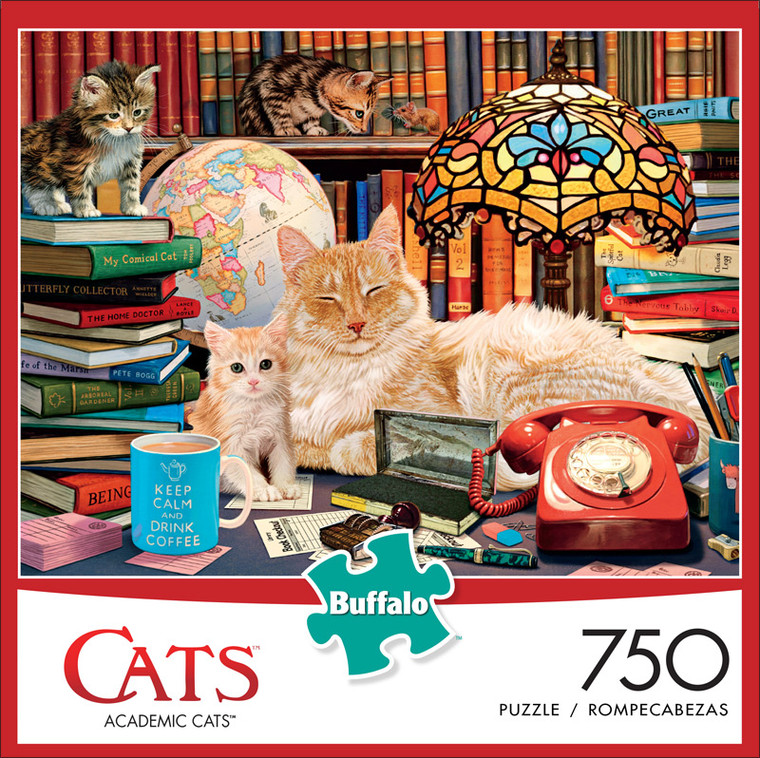 Cats Academic Cats 750 Piece Jigsaw Puzzle Front