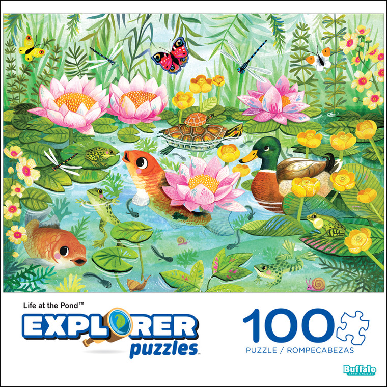 Explorer Life at the Pond 100 Piece Jigsaw Puzzle Front