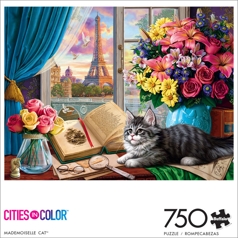 Cats Mademoiselle Cat 750 Piece Jigsaw Puzzle Front