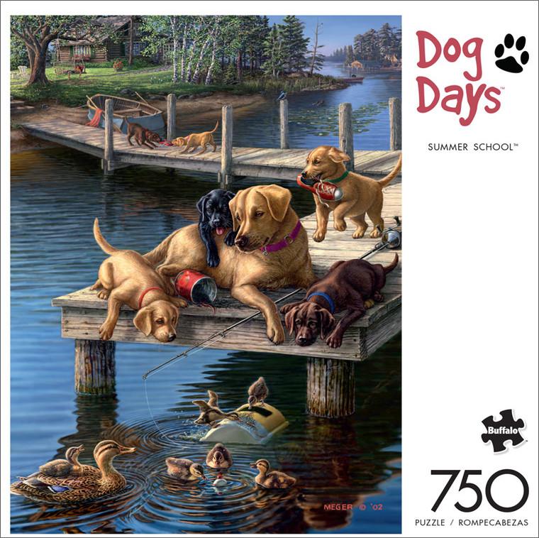Dog Days Summer School 750 Piece Jigsaw Puzzle Front