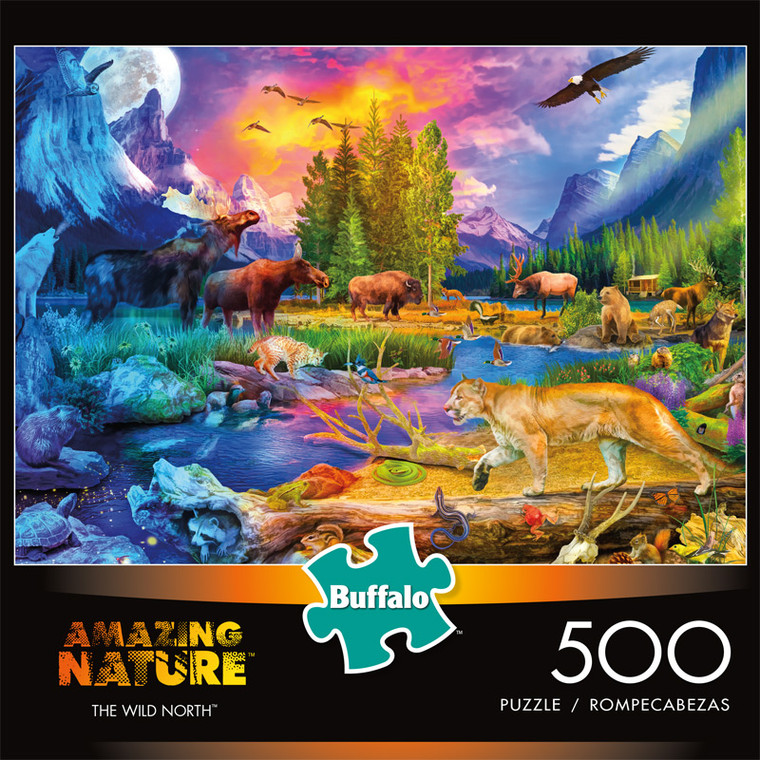 Amazing Nature The Wild North 500 Piece Jigsaw Puzzle Front