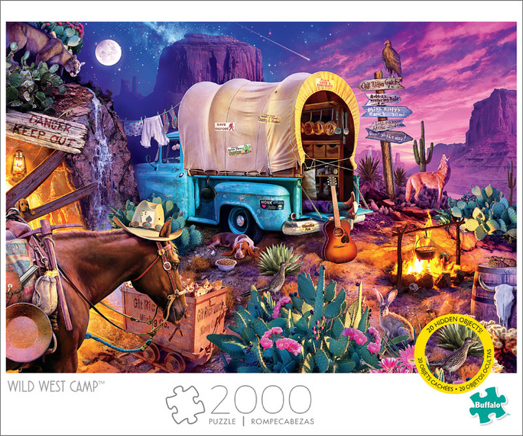 Art of Play Wild West Camp 2000 Piece Jigsaw Puzzle Front