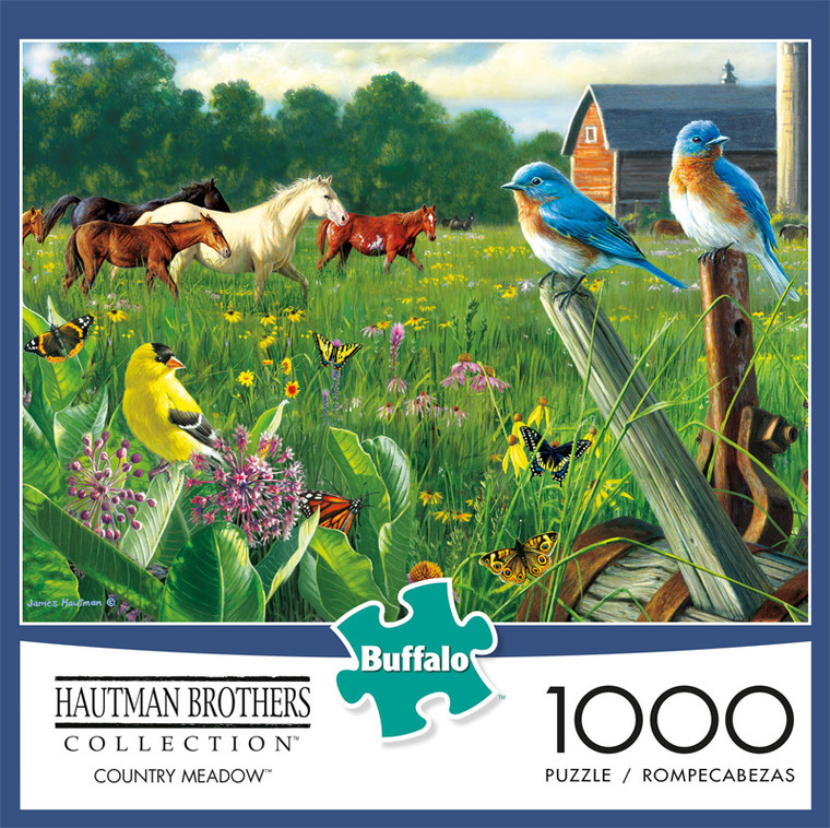Hautman Brothers Country Meadow 1000 Piece Jigsaw Puzzle Front