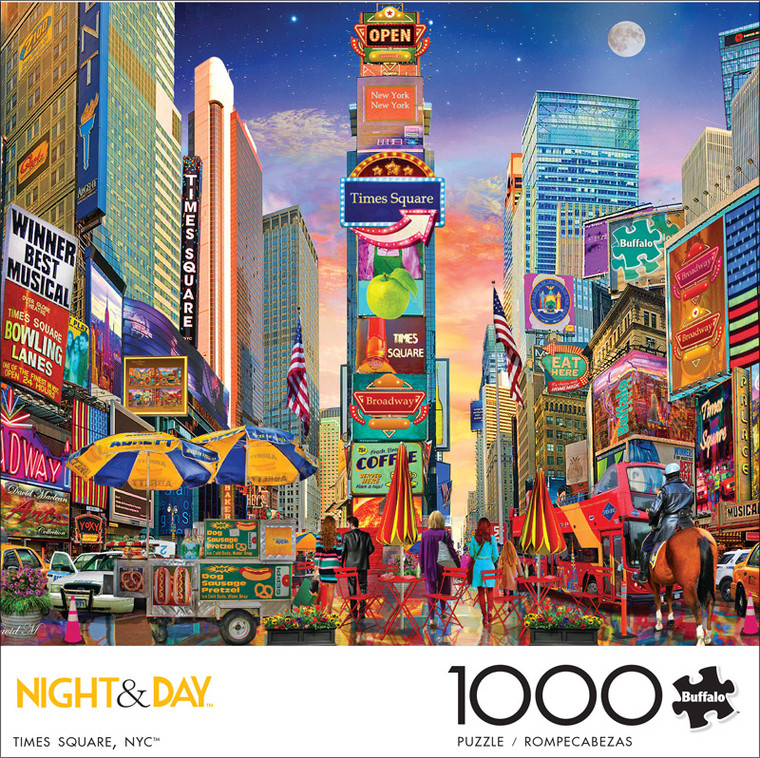 Night & Day Times Square, NYC 1000 Piece Jigsaw Puzzle Front