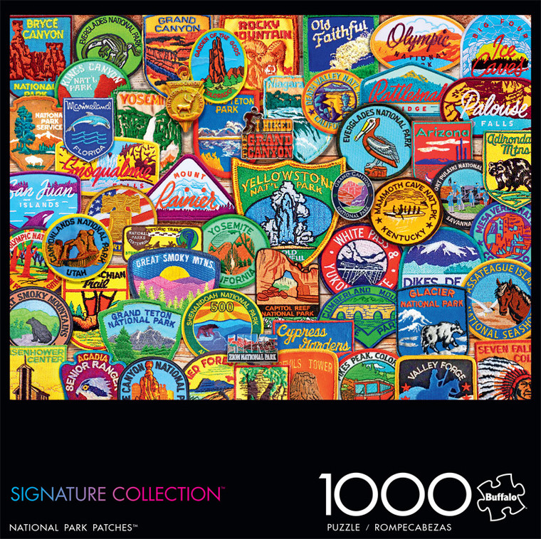 Signature Collection National Park Patches 1000 Piece Jigsaw Puzzle Front