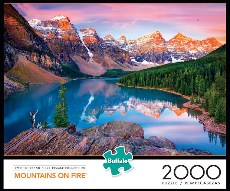 Mountains on Fire 2000 Piece Jigsaw Puzzle Front