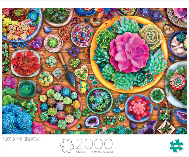 Art of Play Succulent Season 2000 Piece Jigsaw Puzzle Front