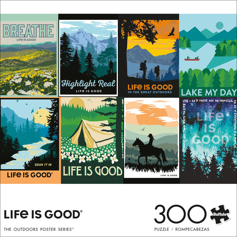 Life Is Good The Outdoors Poster Series 300 Large Piece Jigsaw Puzzle Front