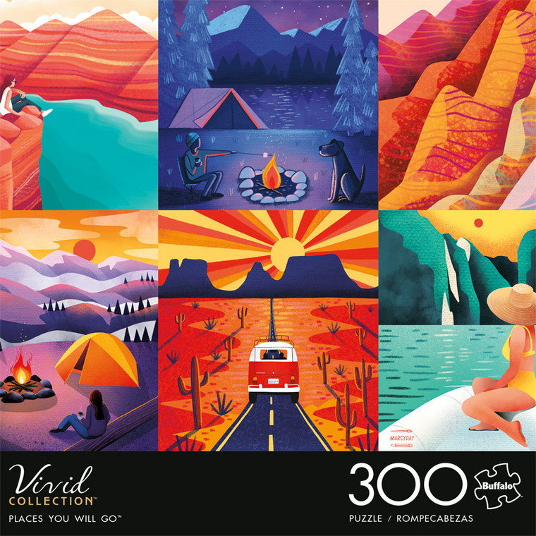 Vivid Places You Will Go 300 Large Piece Jigsaw Puzzle Front