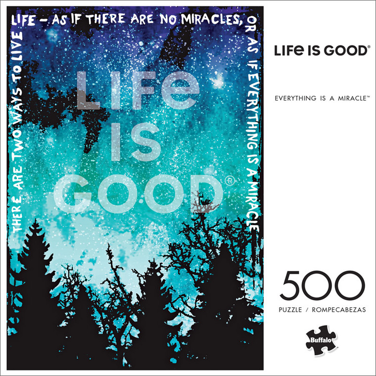 Life is Good Everything is a Miracle 500 Piece Jigsaw Puzzle Front