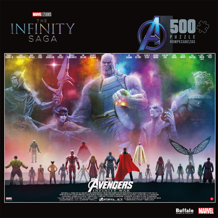 Marvel Avengers Infinity War 500 Piece Jigsaw Puzzle Front