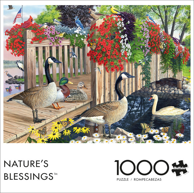 Nature's Blessings 1000 Piece Jigsaw Puzzle Front