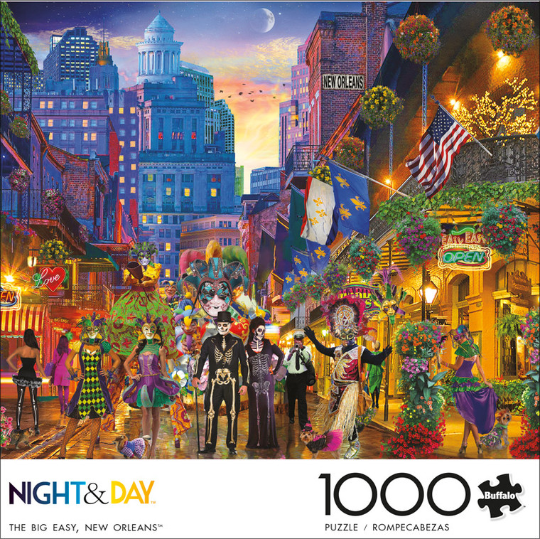 Night & Day The Big Easy, New Orleans 1000 Piece Jigsaw Puzzle Front