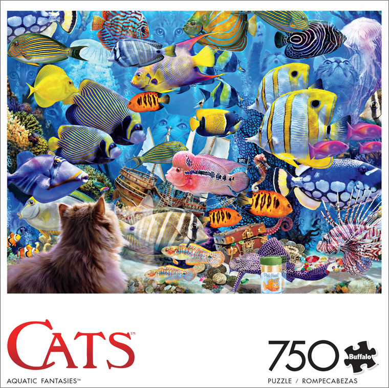 Cats Aquatic Fantasies 750 Piece Jigsaw Puzzle Front