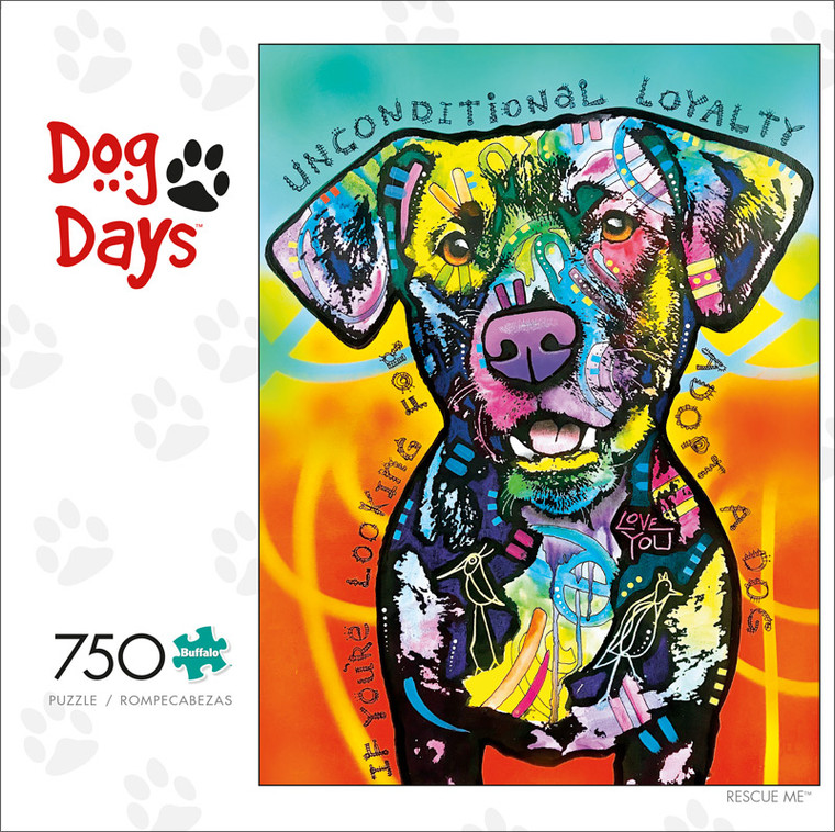 Dog Days Rescue Me 750 Piece Jigsaw Puzzle Front