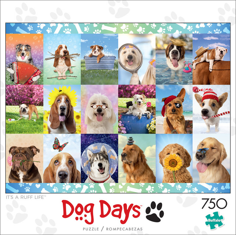 Dog Days It's a Ruff Life 750 Piece Jigsaw Puzzle Front