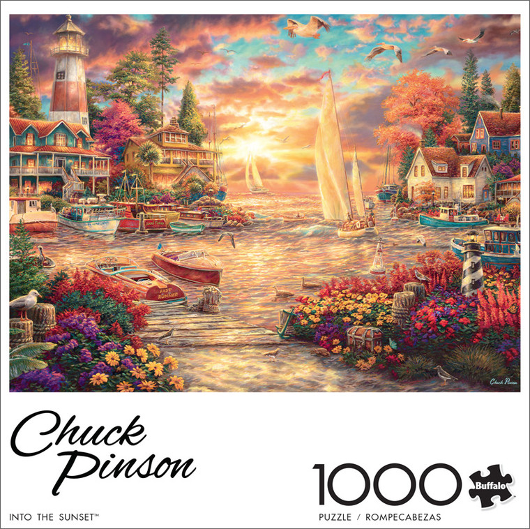Chuck Pinson Into the Sunset 1000 Piece Jigsaw Puzzle Front