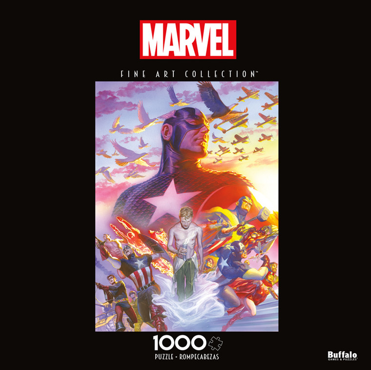 Marvel Fine Art Collection, Captain America #22 1000 Piece Jigsaw Puzzle Front