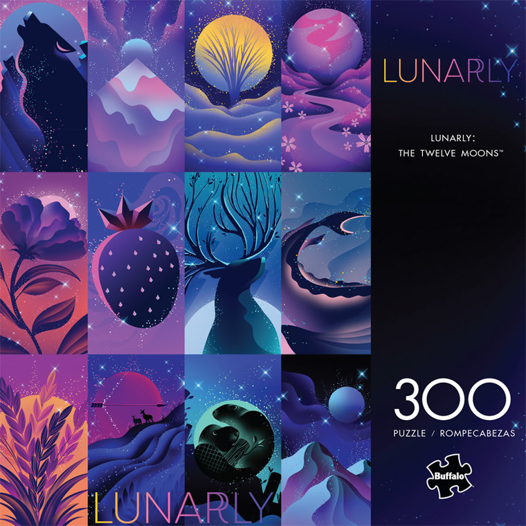 Lunarly The Twelve Moons 300 Large Piece Jigsaw Puzzle Front