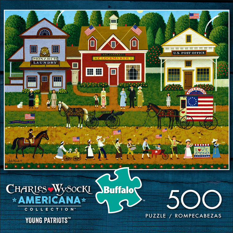 Charles Wysocki Young Patriots 500 Piece Jigsaw Puzzle Front