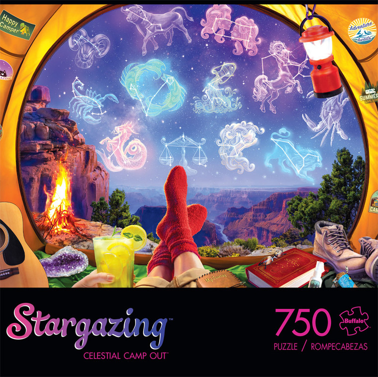 Stargazing Celestial Camp Out 750 Piece Jigsaw Puzzle Front