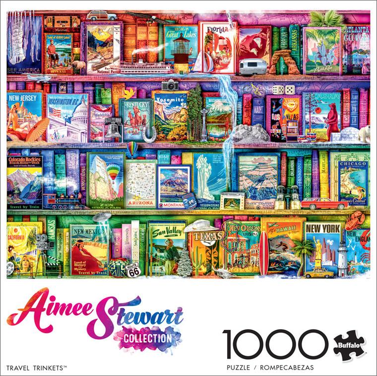 Aimee Stewart Travel Trinkets 1000 Piece Jigsaw Puzzle Front