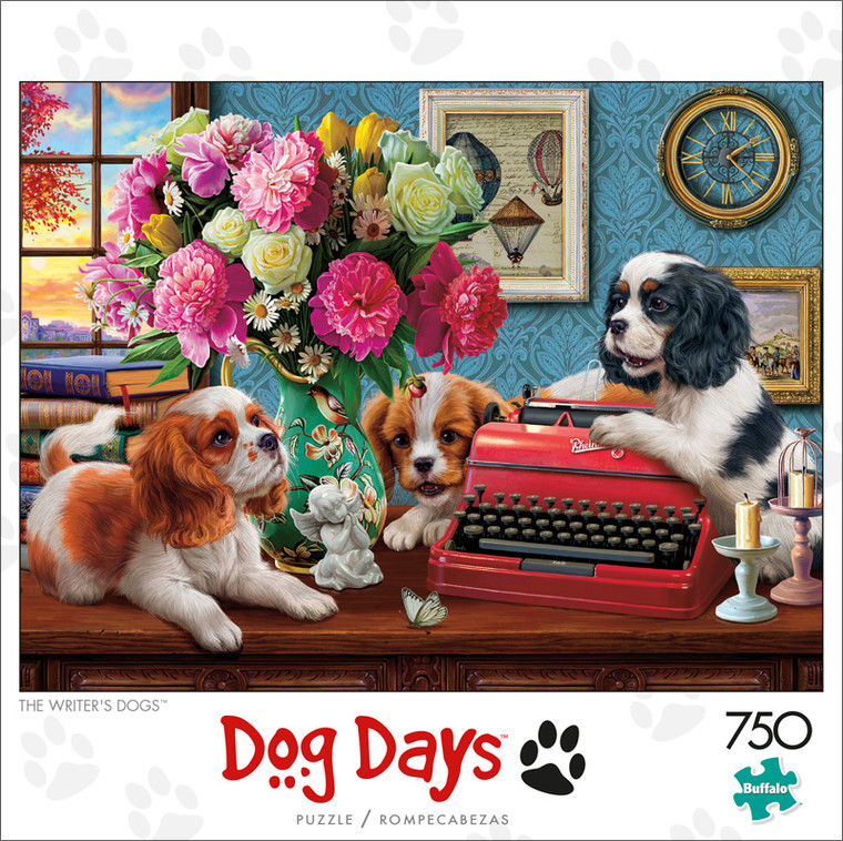 Dog Days The Writer's Dogs 750 Piece Jigsaw Puzzle Front