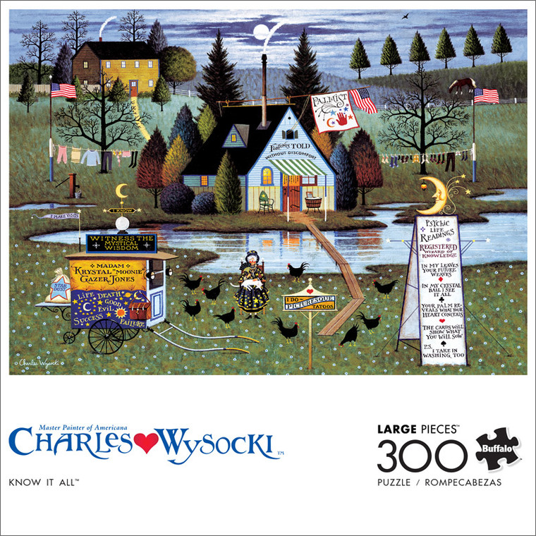 Charles Wysocki Know It All 300 Large Piece Jigsaw Puzzle Front