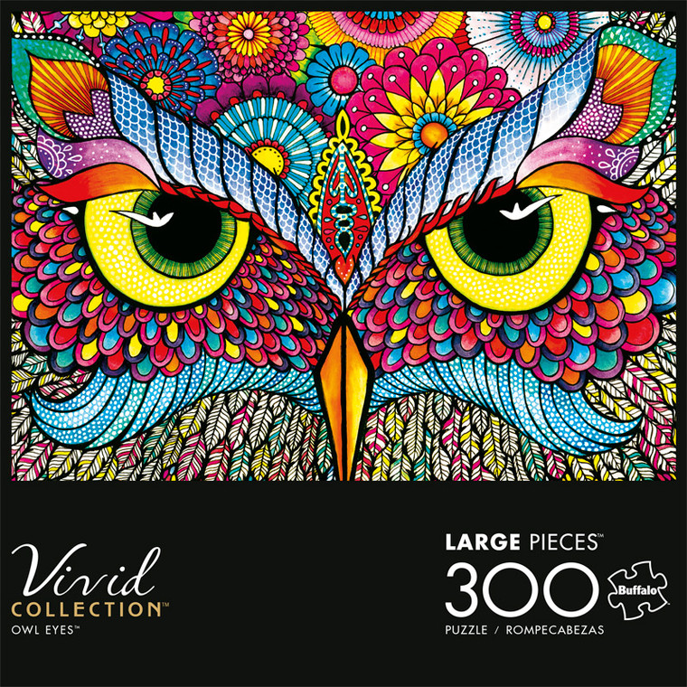 Vivid Owl Eyes 300 Piece Jigsaw Puzzle Front