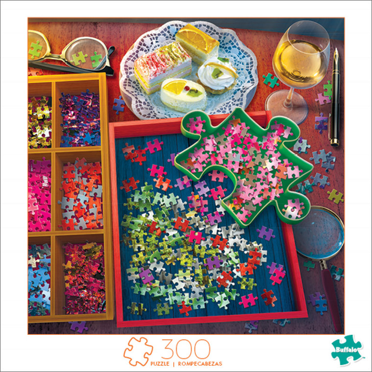 Art of Play Relaxing with a Puzzle 300 Large Piece Jigsaw Puzzle Front