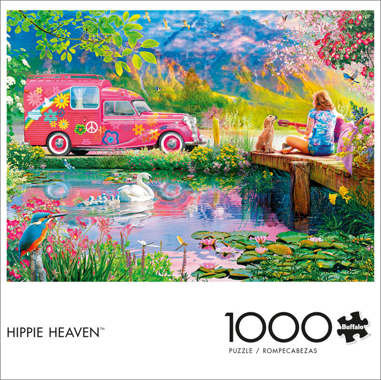 Angelo Bonito Hippie Heaven 1000 Piece Jigsaw Puzzle Front