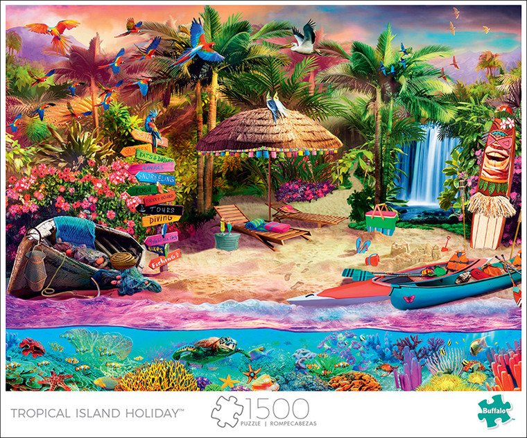 Art of Play Tropical Island Holiday 1500 Piece Jigsaw Puzzle Front